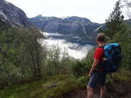 male backpack hiking